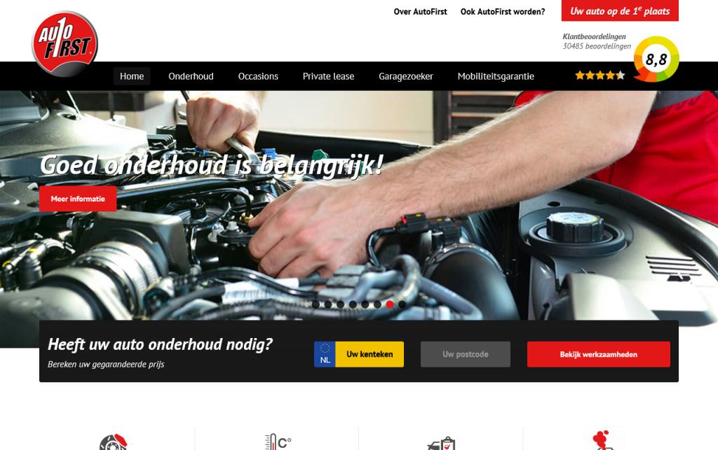 AutoFirst homepage