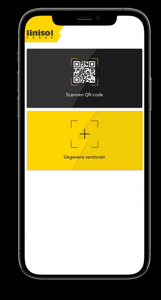 Linisol app - QR scannen