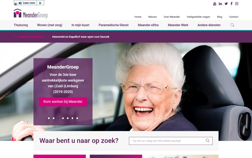Meander homepage