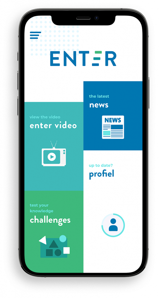 ENTER app - dashboard