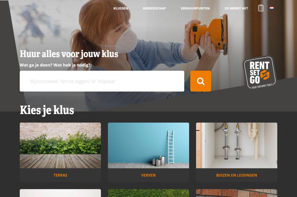 RentSetGo homepage